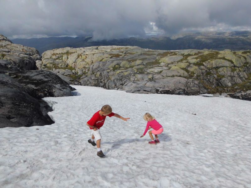 Mid August and still snow