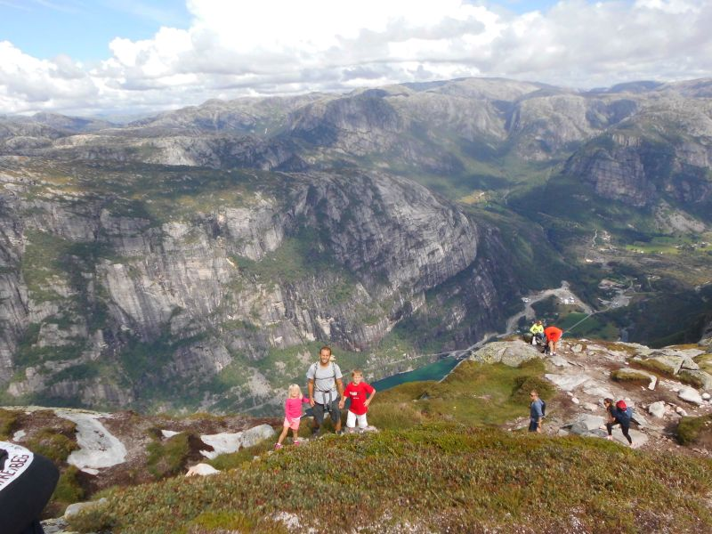 On the descent - Lysefjord in the background
