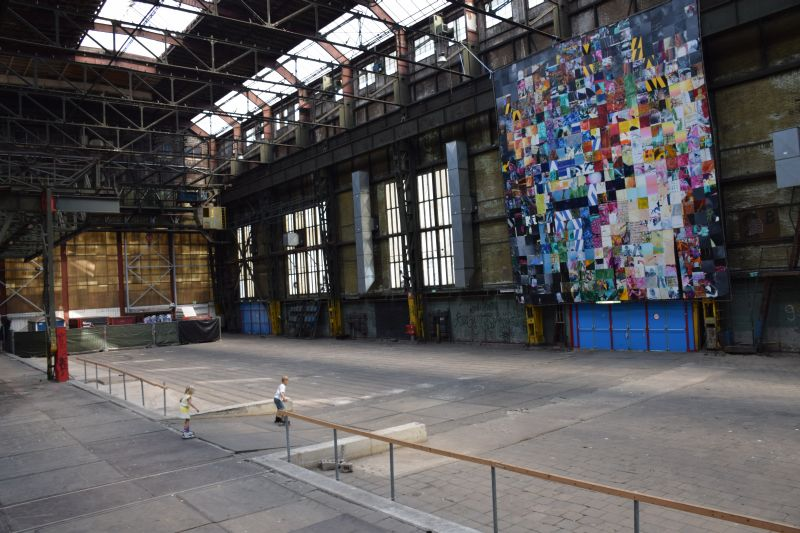 Rollerblading in an old Shipbuilding Warehouse