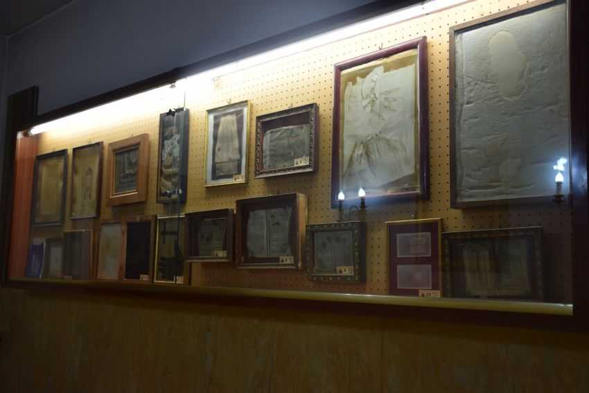 Purgatory Museum - these burnt handprints are certified as having come from beyond the grave.  100% verified.