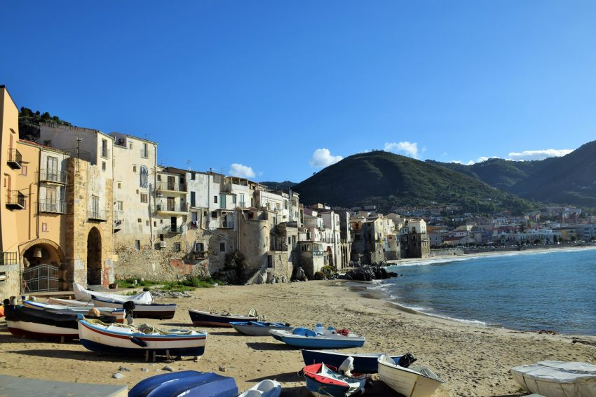 Cefalu, on the way to Palermo